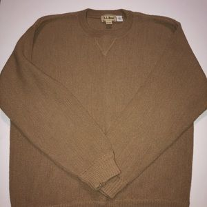 LL BEAN 100% Alpaca Crew Neck Sweater